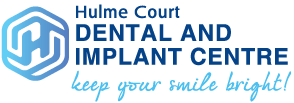 Hulme Court Dental and Implant Centre Full Company Logo with Tag Line